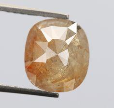 1.60 Ct, 8.1 X 7.1 X 3.0 MM Cushion Shape Grey Peach Color Natural Loose Beautiful Diamond, Polished Diamond, Diamond Ring, Birthstone, R494 by RusticDiamondWorld on Etsy