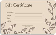 free printable gift certificate forms free certificates birthday