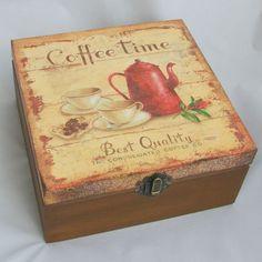"""Szkatułka """"Coffee Time"""" w Angellum na DaWanda.com"""