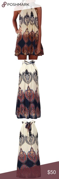 """Boho Mini Chiffon Dress Brand New in package - """"Fara Boutique"""" Material: Cotton/Rayon Above the knee, Mini  •SERIOUS BUYERS are WELCOME •LOWBALL OFFERS will be DECLINED ....This is not a RUDE message....happy poshing  Size Info:  L  (14) Bust: 111cm Length: 80cm  XL (16) Bust: 116cm Length: 82cm 2XL (18) Bust: 121cm Length: 83cm 3XL (20) Bust: 126cm Length: 84cm Fara Boutique Dresses Mini"""