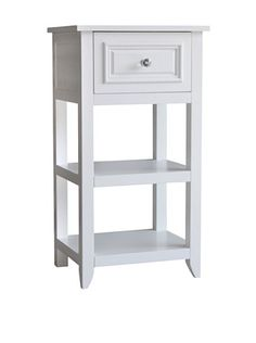 Elegant Home Fashions Dawson 1Drawer End Table in White -- Want additional info? Click on the image.