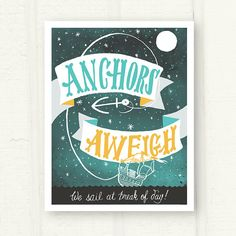 Anchors Aweigh fine art print by thispapership on Etsy, $18.00