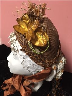 Side back detail of lady's straw bonnet, cal Historical Society, Wreaths, Detail, Lady, Fashion, Moda, Door Wreaths, Fashion Styles, Deco Mesh Wreaths