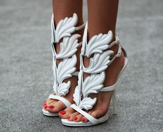 White feather heels