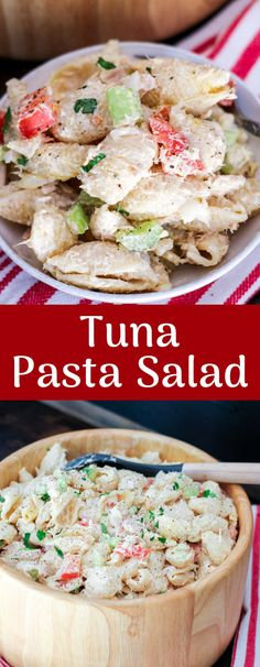 Tuna Pasta Salad is a classic recipe that everyone loves! This slightly lightened up easy recipe is delicious, easy, and perfect for any occasion.