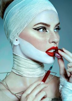 """SHELTER OF BEAUTY on Behance – PHOTOGRAPHER: Alek Živković – Plastic Surgery Source by Related posts: # beauty Take a look at this @ Behance project: """"Typographic displays for plastic surgery"""" www.b … Plastic surgery beauty goal ♡ Makeup Inspo, Makeup Art, Beauty Makeup, Hair Makeup, Hair Beauty, Make Up Looks, Mascara Hacks, Plastic Surgery Photos, Looks Halloween"""