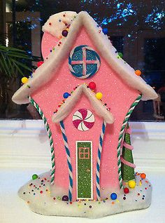Candyland Inspired Pink Gingerbread House Prop Christmas Birthday Decoration | eBay