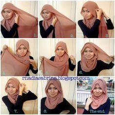 stylish and simple hijab tutorial