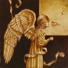 """Jake Baddeley """"As above so below"""" Oil on panel, 2008."""