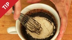 For Bonnie!!! Brownie in a cup brilliance.  Use Chocolate drink- add about 80ml's of water, 1 tsp baking powder, 2 egg whites... microwave for 4mins  Use a bowl because it will foam up over cup