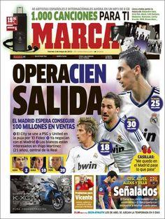 Los Titulares y Portadas de Noticias Destacadas Españolas del 3 de Mayo de 2013 del Diario Deportivo MARCA ¿Que le parecio esta Portada de este Diario Español?