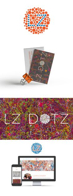 Logo and website design for New York based Abstract artist, LZ Dotz. Color Test, Different Media, My Portfolio, Printed Materials, Outlets, Logo Design, Website, Logos, Abstract