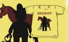 """""""""""SHERIFF"""" by Customize My Minifig"""" Kids Clothes by ChilleeW 
