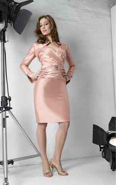 Pink Sheath Knee-length Sweetheart Dress [Dresses 9282] - $164.00 : - KissPromGirl.com