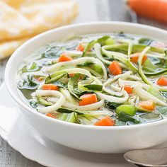 Hungry Girl's Healthy 0-SmartPoints® Slow-Cooker Veggie-Noodle Soup Recipe