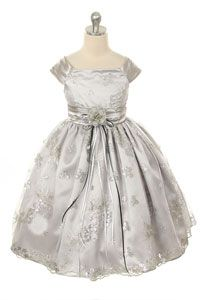 4ef47665c2e Flower Girl Dress Style 247 - Embroidered Satin and Sequin Dress Baby Fancy  Dress