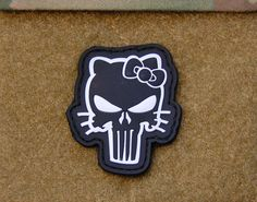 3D PVC Hello Kitty Punisher Velcro Morale Patch