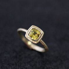 Canary Yellow Sapphire and 14k Yellow Gold by onegarnetgirl,