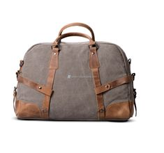 Canvas-and-Leather-Weekender-Bag-1 Satchel, Crossbody Bag, European American, Rucksack Bag, Travel Tote, Canvas Shoulder Bag, Luggage Bags, Mens Fashion, Weekender