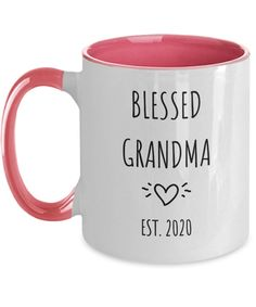 Blessed Grandma Pregnancy Reveal Grandchild Baby Announcement Mug Gift First Time Grandma, Best Deals Online, Tea Mugs, Grandchildren, Announcement, Pregnancy, Blessed, Baby, Gifts