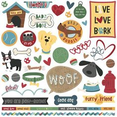 Photo Play Paper - Cooper and Friends Collection - 12 x 12 Cardstock Stickers - Elements