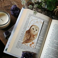 #BarnOwl #bookmark painted with #coffee on #canson #paper 300g/m² 🌿 I wish you all a wonderful day ☺️