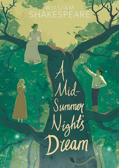 gilesmead: Book cover design for A Midsummer Night's Dream. Rare use of hand-drawn type!
