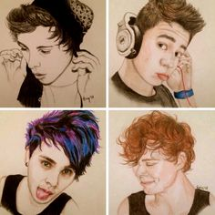 5 Seconds Of Summer drawing. Whoever drew this is amazing