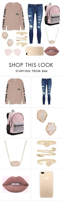 """Untitled #124"" by beccastylesxoxo on Polyvore featuring Victoria's Secret, J Brand and Kendra Scott"