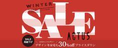 2014 ACTUS online WINTER SALE Sale Banner, Web Banner, Promotional Design, Typography, Lettering, Type Setting, Winter Sale, Christmas Sale, Banner Design