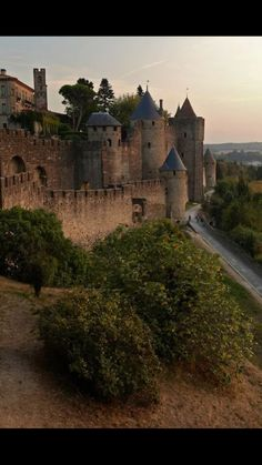 Medieval Castle in Carcassonne, France