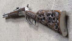 Metal Engraving, Custom Engraving, Maori Tribe, Polynesian Art, Guns Dont Kill People, Rifle Stock, Weapon Storage, Lever Action Rifles, Homemade Weapons