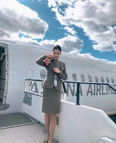 Cabin Crew, Flight Attendant, Pilot, Dresses For Work, Sexy, Image, Instagram, Fashion, Moda