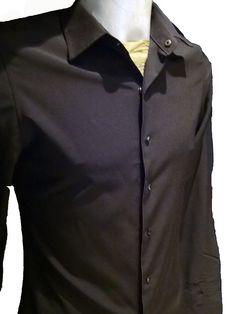 Chemises homme,micro fibres noires