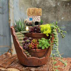 Details about  /European Style Decoration Planter Succulents Flowerpot Galvanized Iron Vintage