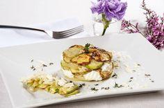Tortino di zucchine, ricotta e patate
