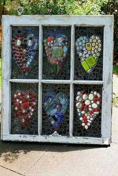 I love hearts and I Love old windows and I think I must make this