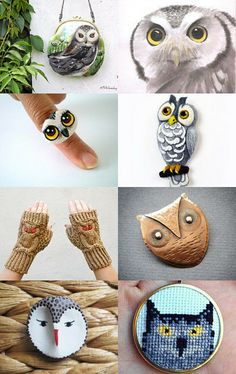 Owls by Ewa and Grzegorz on Etsy--Pinned with TreasuryPin.com