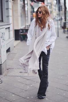 I love a flare leg. Try velvet flare leg pants and an easy flowy top...
