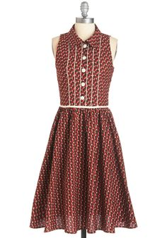 Furry Up Now Dress. Your love for this sleeveless shirt dress was as quick as the foxes that comprise its charming print! #brown #modcloth