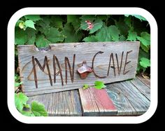 Man Cave Sign with Beer opener. $24.00, via Etsy.