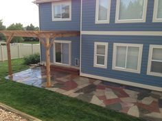 Flagstone patio flagstone and colorado on pinterest for Landscaping rocks erie pa