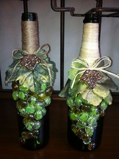 wine bottle crafts | wine bottle craft | Flickr - Photo Sharing!