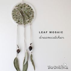 Leaf Mosaic Dreamcatcher, perfect for the October My Year Nature Journal that goes along with the picture book, A Year With Mama Earth. idea the world training craft craft diy craft for kids craft no sew craft to sale Nature Crafts, Fall Crafts, Diy And Crafts, Crafts For Kids, Arts And Crafts, Light Fixture Makeover, Diy Blanket Ladder, Ecole Art, Nature Journal