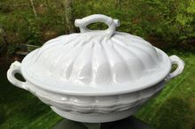 Early English White Ironstone Covered Tureen Ceres Shape
