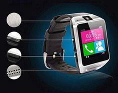 Luxsure®GV08 Smartwatch Smartphone Watch Quad Band 1.54 Inch Bluetooth BT Dailer Camera