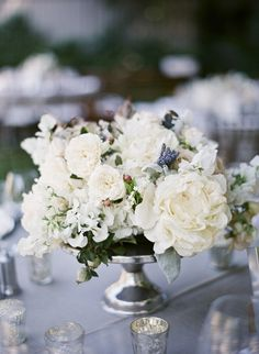 Elegant White Centerpiece | photography by http://www.giacanali.com