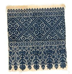 Africa | Embroidered textile from the Fez, Morocco | Cotton | 20th century