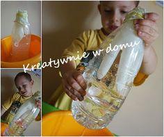 Balonowo-wodne eksperymenty | Kreatywnie w domu Montessori Materials, Diy And Crafts, Projects To Try, Water Bottle, Drinks, Art, Drinking, Beverages, Drink