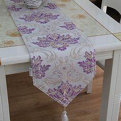 Luxury Purple Table Runner